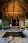 The couples massage suite is set among the natural surroundings of the Dominican jungle.