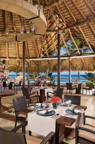 Indigo Restaurant is located beachfront and provides spectacular ocean views.