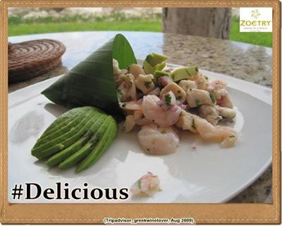 Ceviche, prepared fresh at Zoëtry Paraiso de la Bonita, typically consists of raw seafood and is served as an appetizer.