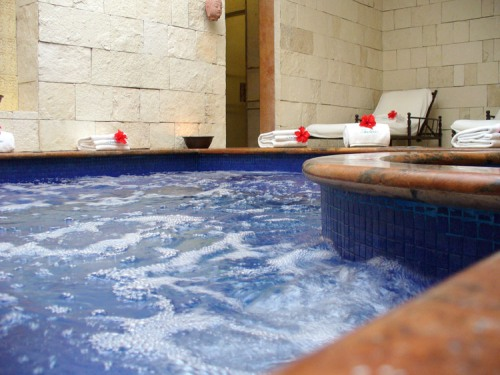 The Jacuzzi at the Zoëtry Paraiso de la Bonita Riveria Maya Thalasso Center, the first certified Thalassotherapy center in North America.