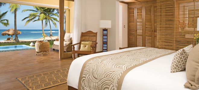 Celebrate your honeymoon in style with a beachfront room at Zoëtry Agua Punta Cana.