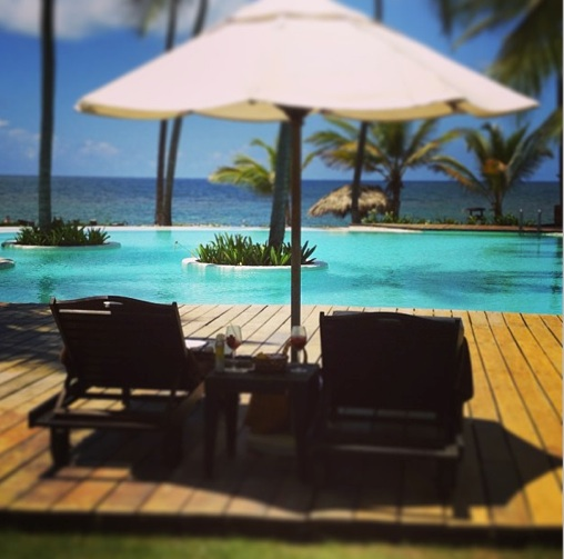 Heather has the perfect view from the pool at Zoëtry Agua Punta Cana.