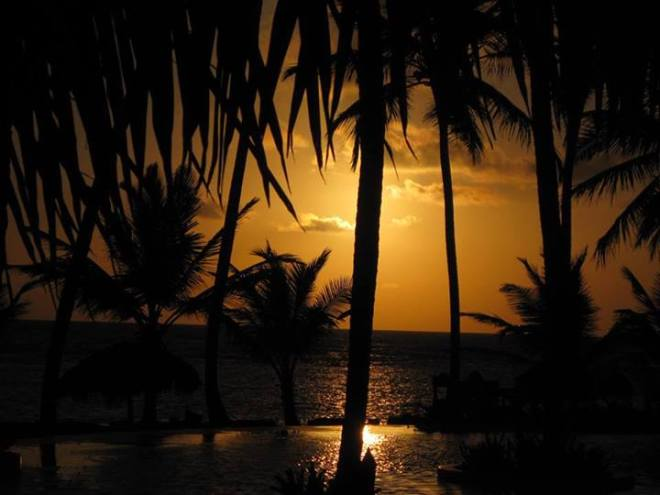 This brilliantly orange sunrise at Zoëtry Agua Punta Cana was taken by recent guest Kari.