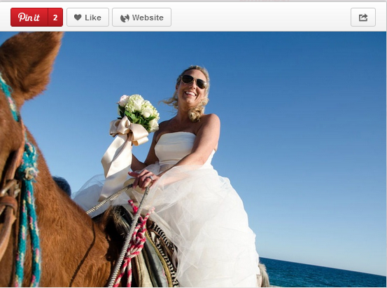 What a fun, fearless bride. Anything is possible at Zoetry Wellness Spas & Resorts!