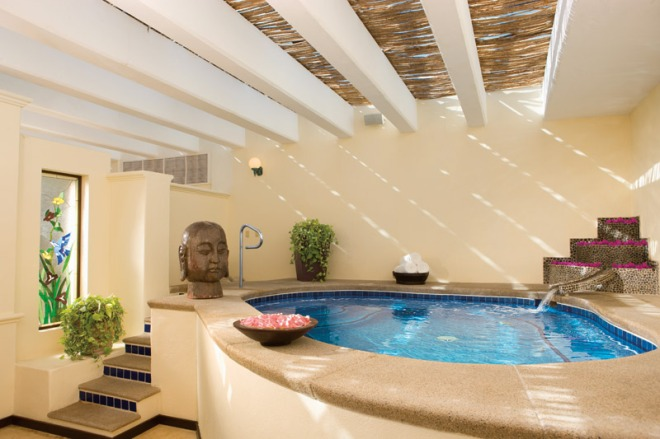 A Jacuzzi at the spa offers guests a tranquil and relaxing spa experience.