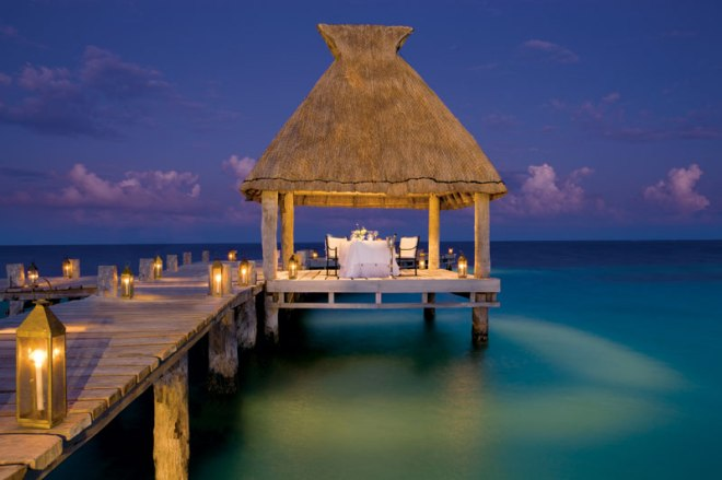 Book a private dinner on the pier at Zoëtry Paraiso de la Bonita Riviera Maya