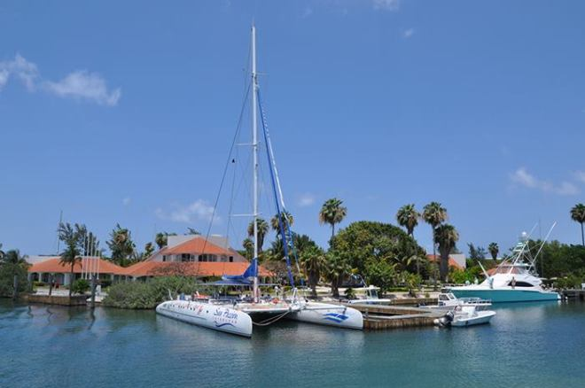 Private marina at