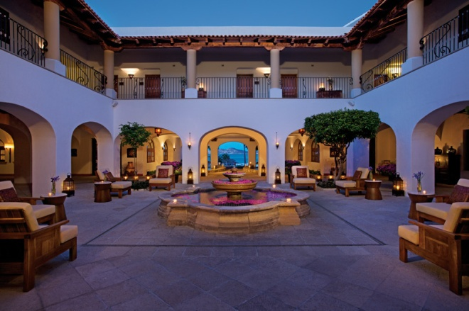 The impressive open air lobby at Zoëtry Casa del Mar Los Cabos.