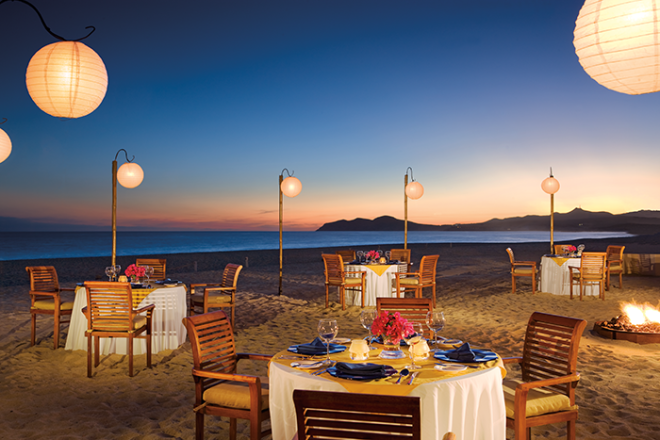 Dine with an incredible view at Mezquite at Zoëtry Casa del Mar Los Cabos.