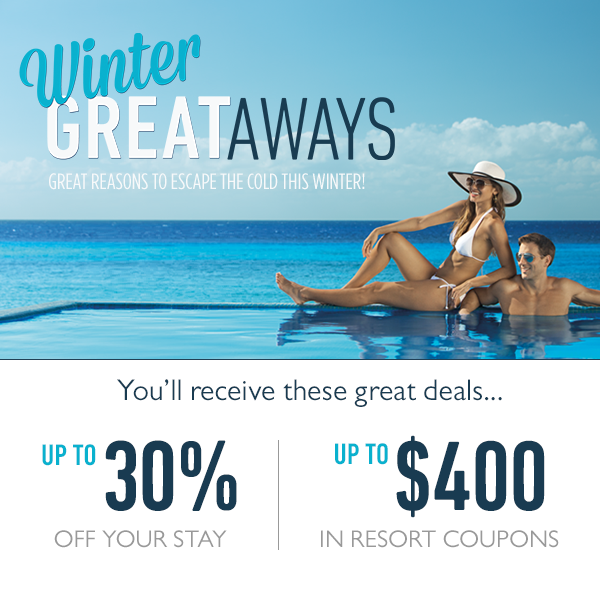 Take advantage of our Winter GREATaways offer to save big on your next Zoëtry Wellness & Spa Resorts getaway!