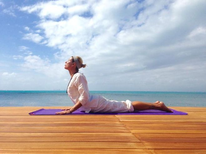 Yoga with a view at Zoëtry Wellness Spa & Resorts.