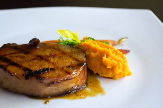 Paraiso- Pork Loin, Maple and Cumin Glace, Mashed Potato
