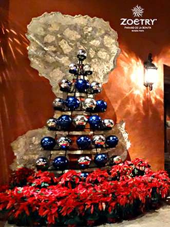 Zoetry Paraiso de lka Bonita Riviera Maya transforms into a winter wonderland this Christmas holiday.