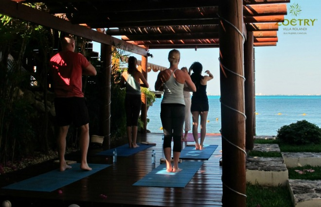 Yoga at Zoëtry´s dock